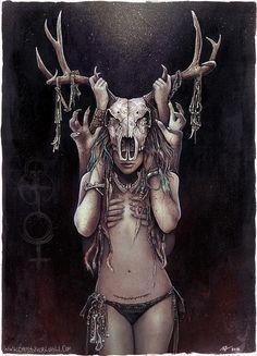 The Horned Goddess by Lovell-Art on DeviantArt