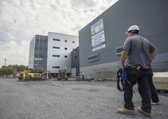 Andy Yuhas of Moran Industries looking over the construction site.  The Capitol View Commerce Center project located on Cameron Street, which is to include space of Moran Industries logistics and other businesses, on August 27, 2014.  Daniel Zampogna, PennLive