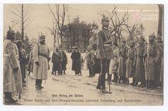Untertitel Unser Kaiser auf dem Kriegsschauplatz zwischen Insterburg und Gumbinnen. Feldpost, gelaufen 23.06.1915