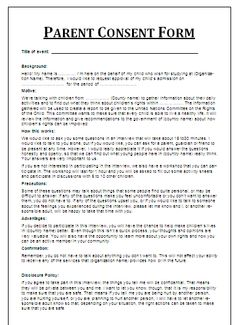Sales letter template templates pinterest letter templates and permission letter for medical treatment sample child consent forms templates thecheapjerseys Image collections