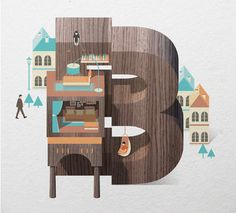 Stunning work, this must have taken a lot of work...Resort Type by Jing Zhang, via Behance