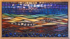 Midnight Beach by Jean Loney ~ Maplestone Gallery ~ Contemporary Mosaic Art
