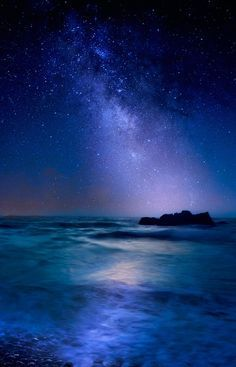 Milky Way over Mediterranean Sea by Albena Markova - Photo 127127939 - - Click the link to see the newly released collections for amazing beach bikinis! Beautiful Sky, Beautiful World, Beautiful Places, Beautiful Pictures, Sky Full Of Stars, Sea Of Stars, Jolie Photo, Milky Way, Night Skies