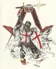 dibujo de caballero templario