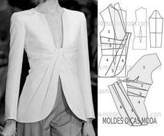 Amazing Sewing Patterns Clone Your Clothes Ideas. Enchanting Sewing Patterns Clone Your Clothes Ideas. Coat Patterns, Dress Sewing Patterns, Clothing Patterns, Women's Clothing, Fashion Sewing, Diy Fashion, Ideias Fashion, Sewing Clothes, Diy Clothes