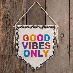 """Good Vibes"" Wall Pennant"