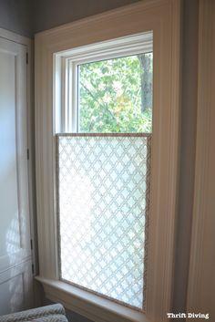 loving this window treatment for my own bathroom window!! | Window ...