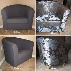 How to Reupholster a Chair #ReupholsterChair