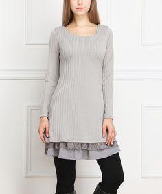 Gray Lace Sweater Dress | zulily
