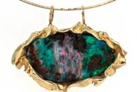 """LEE POWNALL """"Tranquility"""" pendant 750 y/gold with Queensland boulder opal- $7750"""