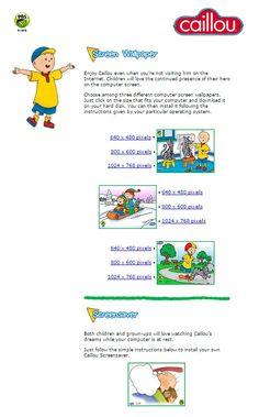 Caillou, Pbs Kids, Computer Wallpaper, Activities, Children, Free, Young Children, Boys, Kids