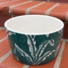 """TEPCO Green Palm ICE BUCKET!  Guaranteed to be something you're not likely to see.  I've only seen or had two of them; ever.  9.5"""" diameter; 5"""" high.  About 7 pounds weight."""