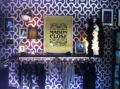 #Maisonclose #booth at #mode #city #boudoir #lingerie #french  www.maison-close.com