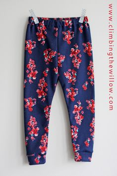 Climbing the Willow: sew it all series - floral ponte pants