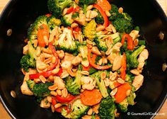 "Gourmet Girl Cooks: Chicken Stir-Fry - Low Carb ""Take-in"""