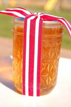 Cinnamon Anise Jelly originally from the Ball Canning Recipe Book this tastes amazing and is so easy to make.  Tied up with a simple ribbon and home made gift tag it makes a wonderfully simple thoughtful gift for Christmas or anytime!