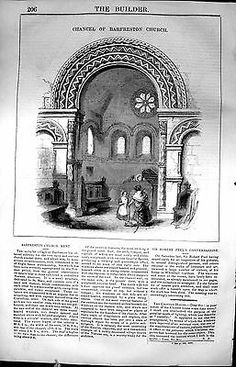 #Print #chancel barfreston #church kent england architecture 1847 builder 206l105,  View more on the LINK: http://www.zeppy.io/product/gb/2/351633937688/