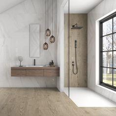bathroom tiles images - Google Search Bathroom Tiles Images, Bathroom Remodel Pictures, Wood Bathroom, Modern Bathroom Design, Bathroom Interior Design, Small Bathroom, Bathroom Showrooms, Ensuite Bathrooms, Bathroom Renos
