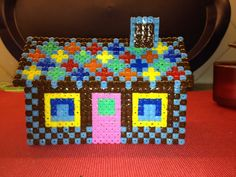 3D Hama bead ginger bread house