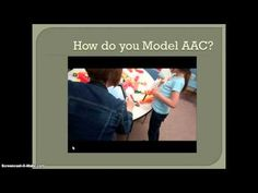 Modeling AAC-Training video for communication partners of AAC users