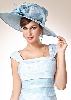 Elegance and grace in this charming pale blue wedding guest dress by Zeila.