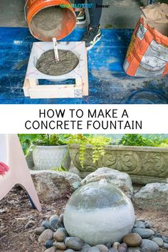 How to Make a Concrete Fountain Orb