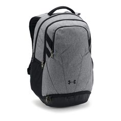 These Under Armour Graphite UA Team Hustle Backpacks combine Under Armour's cutting-edge UA Storm weather resistant fabric and Heat Gear fabric to create the ultimate grey corporate backpack that's perfect for your custom embroidered company logo. Grey Backpacks, Cool Backpacks, North Face Backpack, Black Backpack, Best Backpacks For College, College Reviews, Under Armour Team, Tough As Nails, Diaper Bag Backpack