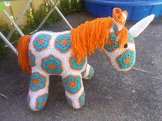 Ravelry: Project Gallery for Fatty Lumpkin the Brave African Flower Pony Crochet Pattern pattern by Heidi Bears