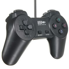 Newest Hot Black USB 2.0 Wired Gamepad Joystick Joypad Gamepad Game Controller for PC Laptop Computer for XP/for Vista