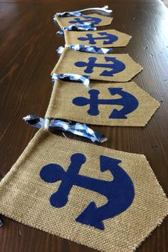 Items similar to Nautical Birthday Bunting Banner//Baby Shower or Nursery Décor//Photo Prop//asher + blaine on Etsy Birthday Bunting, Boy Birthday, Birthday Decorations, Artist Birthday, Décoration Baby Shower, Sailor Theme Baby Shower, Baby Shower Vintage, Sailor Baby, Nautical Party
