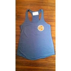 Tn Vols Tank Orange and White Gbo Tank Tennessee Flag Shirt ($19) ❤ liked on Polyvore featuring tops, black, women's clothing, black shirt, orange tank, white tank, orange tank top and black top