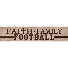 Amazon.com: Faith, Family, Football - Poster by Lauren Rader (18x4): Home & Kitchen