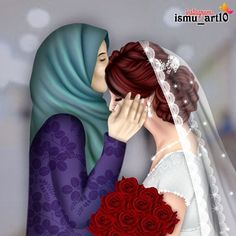 Image may contain: one or more people Cute Couple Art, Cute Couples, Mother Daughter Art, Photos Booth, Best Friend Drawings, Cute Girl Drawing, Girl M, Girly Drawings, Arab Girls