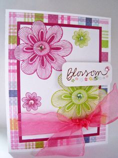 """Easter """"Blossom"""" Handmade Card by Mailbox Memories on Etsy"""