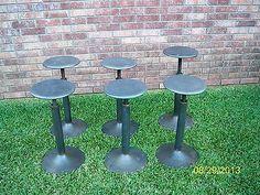 6 Vintage Style Industrial Drafting Stool Adjustable Metal Barstool Shop Stools  $588.00