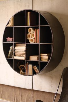 giant round cubby shelves  $449.00..... What !? I could make this with a form tube for $5!!