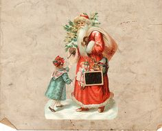 Digital Christmas Color Santa St. Nick  Antique by DIYVintageArt, $1.20