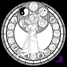 Free to color! Just credit me for the design! Colored version: More coloring pages and other stuff to use: