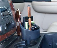 Cell phone holder car cup holder organizer