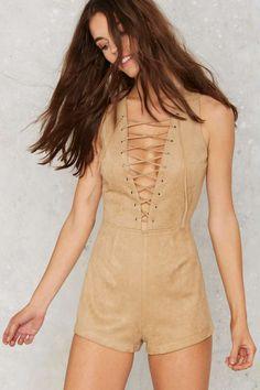 Evan Lace-Up Romper - Clothes | Rompers + Jumpsuits | Feminine Utilitarian | Best Sellers