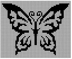 butterfly grill - Julia Home Small Cross Stitch, Butterfly Cross Stitch, Crochet Butterfly, Cross Stitch Heart, Cross Stitch Alphabet, Butterfly Pattern, Cross Stitch Designs, Cross Stitch Patterns, Cross Stitching