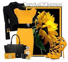 """sunflower contest"" by candy420kisses on Polyvore"