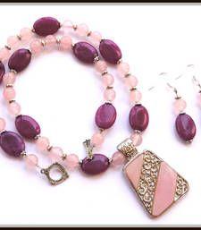 Buy Pink Jades necklace necklace-set online