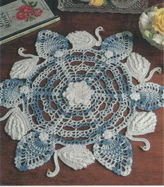 Made to order crochet doily with flowers swans by KroneCrochet, $49.00