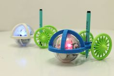 3D printed sphero carts that take a pen to draw with