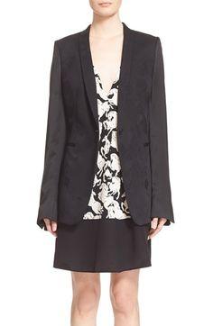 STELLA MCCARTNEY Floral Pattern Wool Blend Jacket. #stellamccartney #cloth #