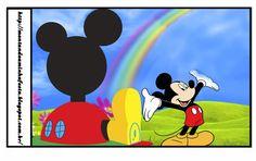 Casa de Mickey: Etiquetas para Candy Bar para Imprimir Gratis.