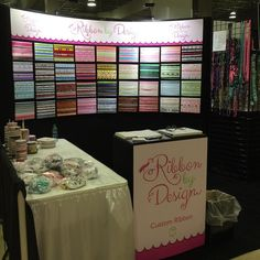 It's showtime! Ready to go! Lots of ribbon, lanyards, collars, leashes, headbands and more! Shop at @soflocakeandcandyexpo ! #shop #ribbons #custom #stock #fun #designs#shop #today #tomorrow