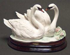 Armani Armani Figurine Pair Of Swans - Boxed Wall Sculptures, Sculpture Art, Swan Jewelry, Swan Pictures, Soap Carving, Homemade Home Decor, Easter Egg Designs, Turtle Painting, Mural Art