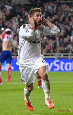Sergio Ramos of Real Madrid in the 2014 Champions League Final